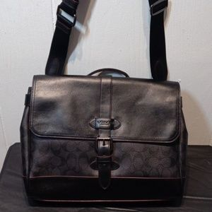 NWT COACH Mens Hudson Messenger